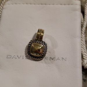 David Yurman enhancer silver and gold